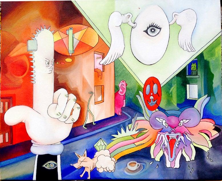 "Image of "" Gangstreet Illuminashit "" by 4ndr345 M4rch4l & Auré Lan"