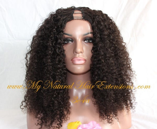 Image of Kinky Curly Wigs - Natural Curly Wigs For 3c 4a Hair