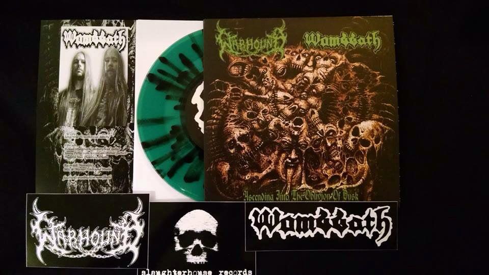 "Image of Wombbath/Warhound split 7"" - Ascending Into The Oblivion Of Dusk"