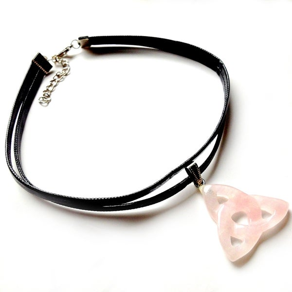 Image of Triquetra Quartz Double Choker