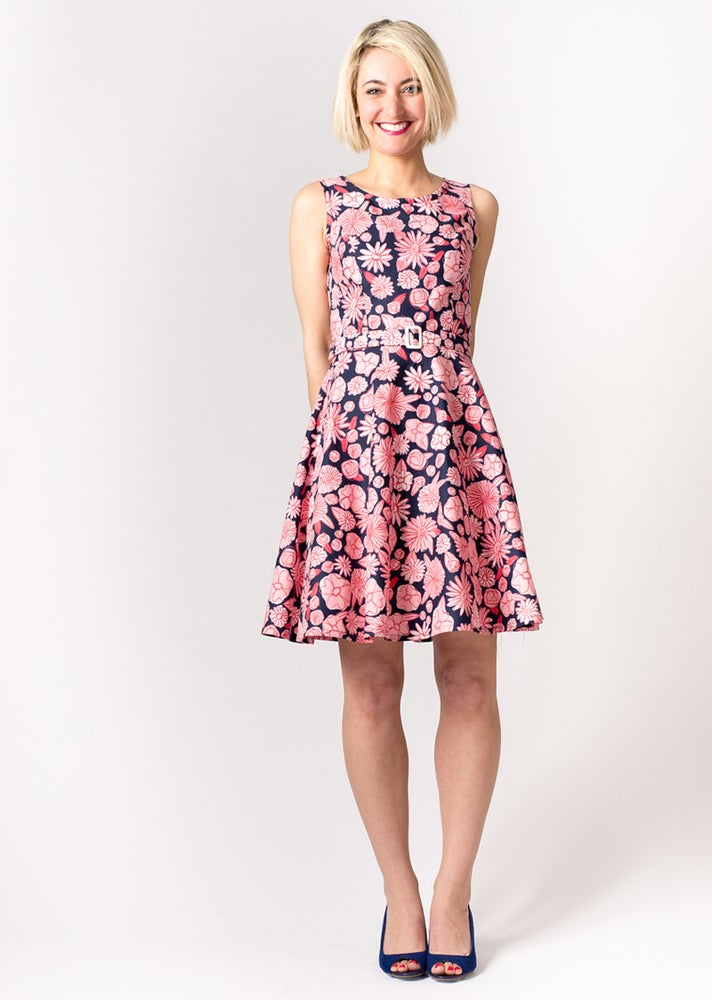 Image of Coco Party Dress: Pink/Navy Floral