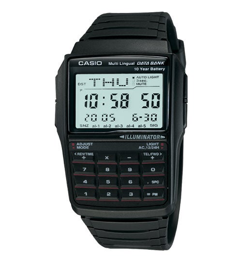 Image of Casio Digital Calculator Watch with Databank