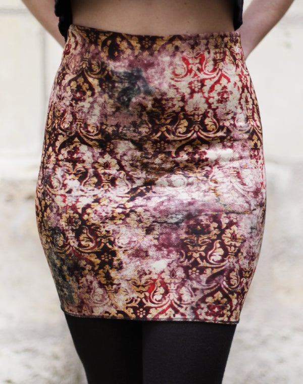 Image of Jupe jersey tapisserie