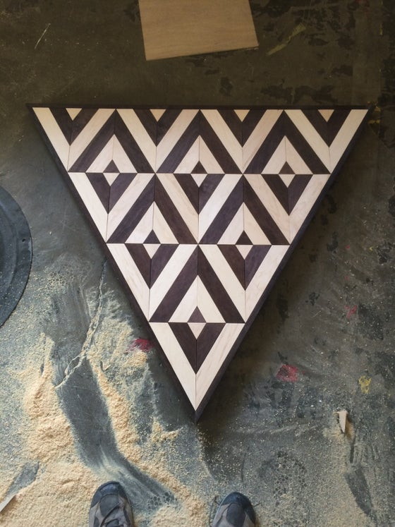 Image of Large patterned triangle