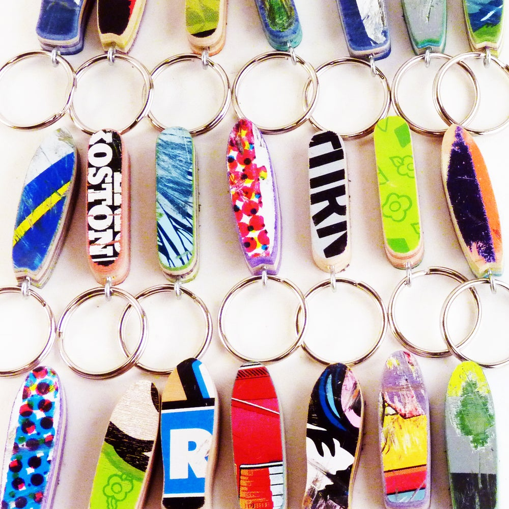 Image of Little Skateboard Keychain - (4) Classic Skateboard Shapes Available