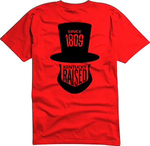 """Image of KY Raised """"Legend Series"""" A.B.E. Tee in Red & Black"""