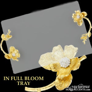 Image of In Full Bloom Glass Tray