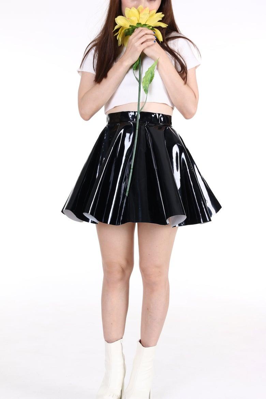 Image of Made To Order - Black PVC Circle Skirt