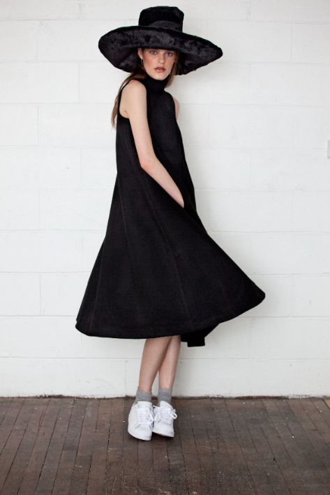 Image of Pleated swing dress- ON SALE