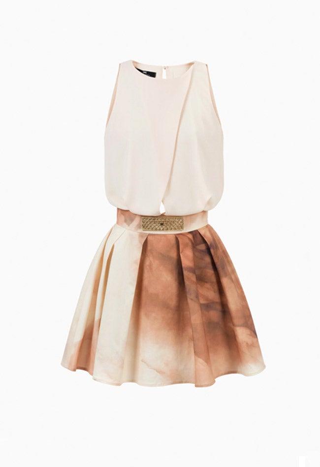 Image of NUDE / PRINTED DRESS