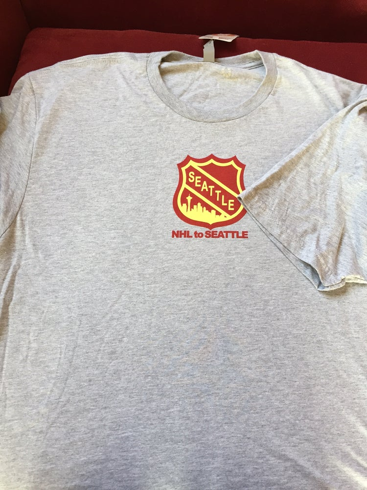 Image of NHL to Seattle Light Grey Tee