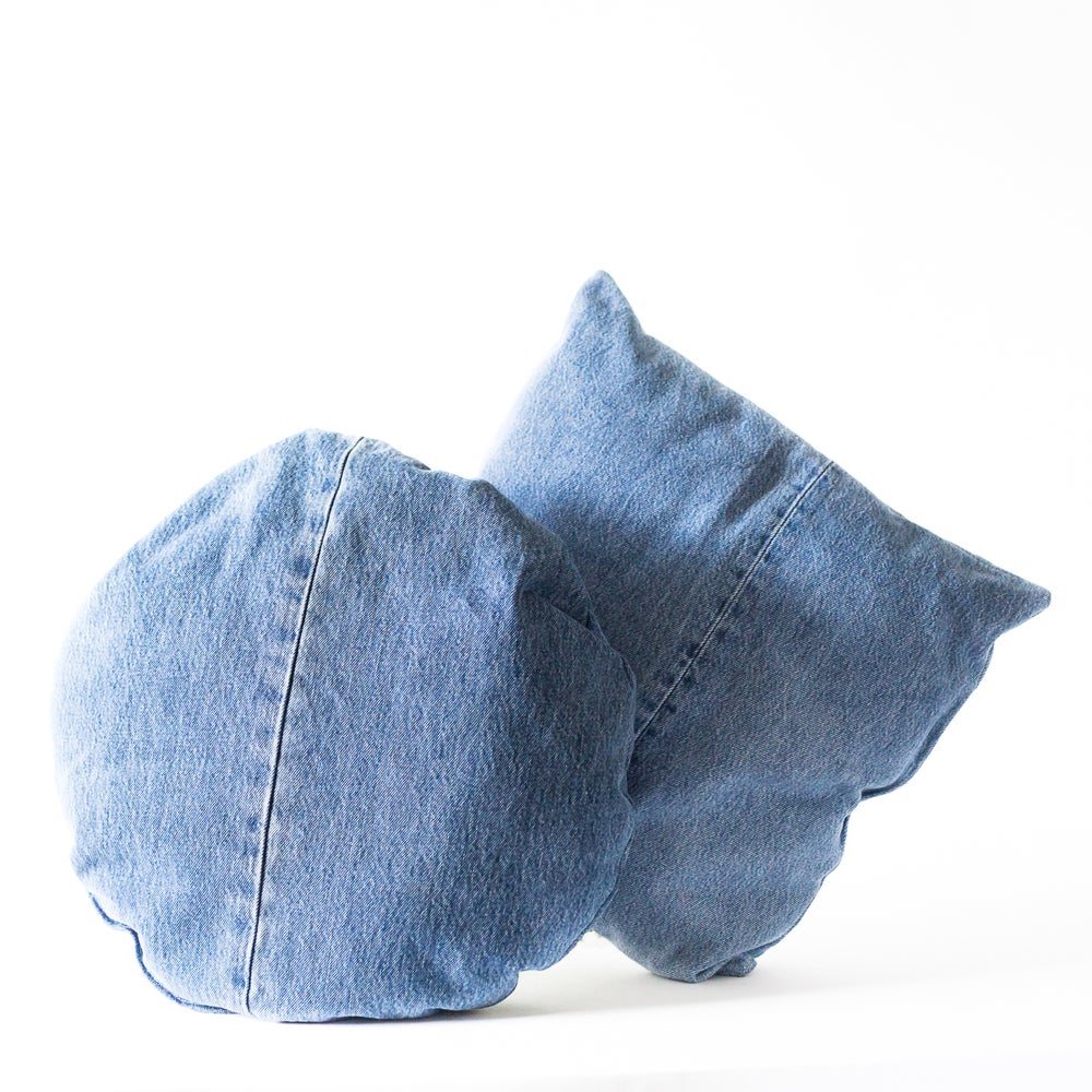 Image of Dottie Denim Pillows