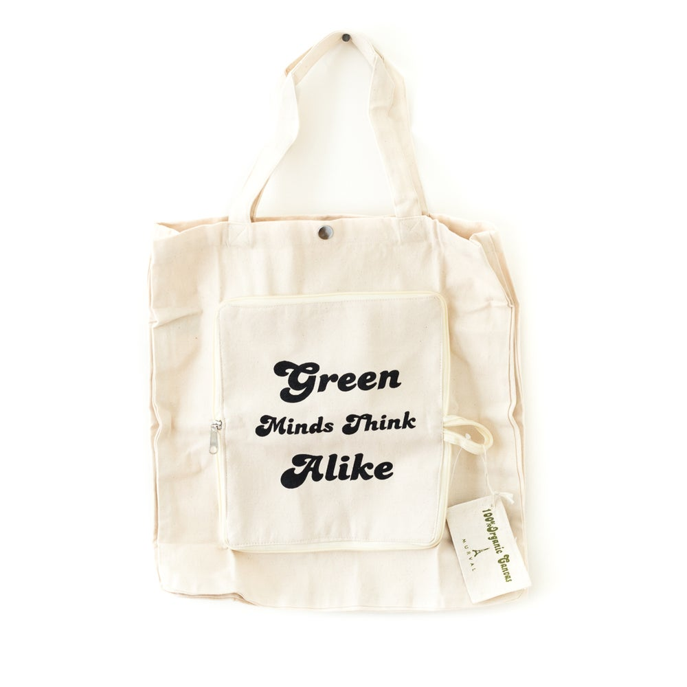 Image of Green Zip-Up Tote