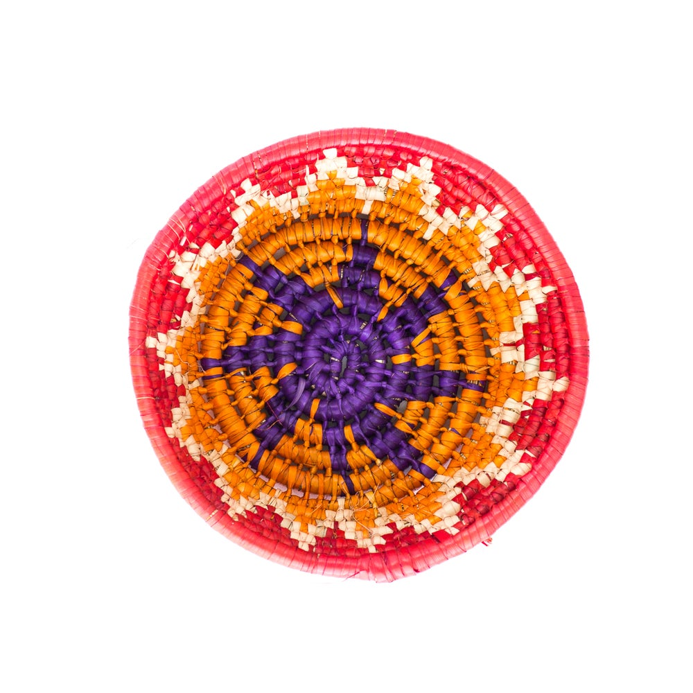 Image of Technicolor Woven Bowl - Red/Orange