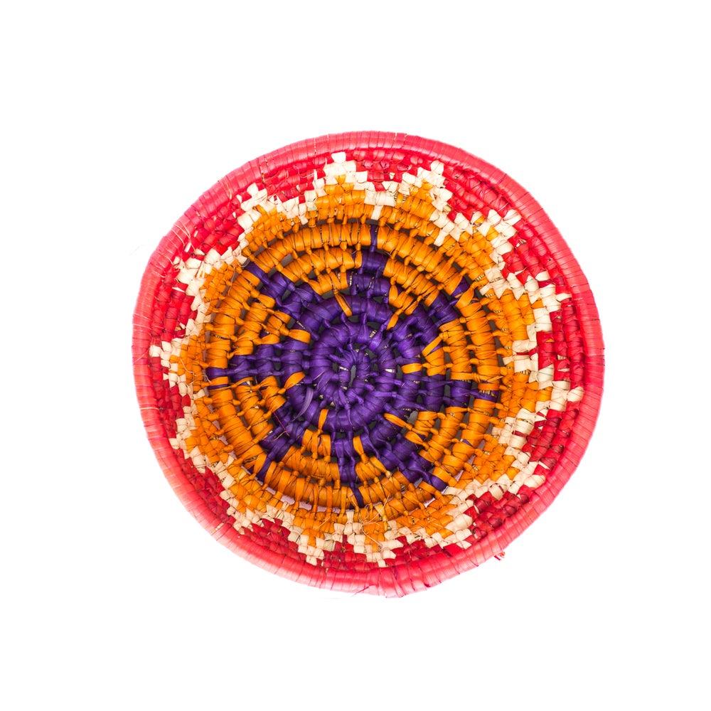 Image of Technicolor Woven Bowl - Red/Orange