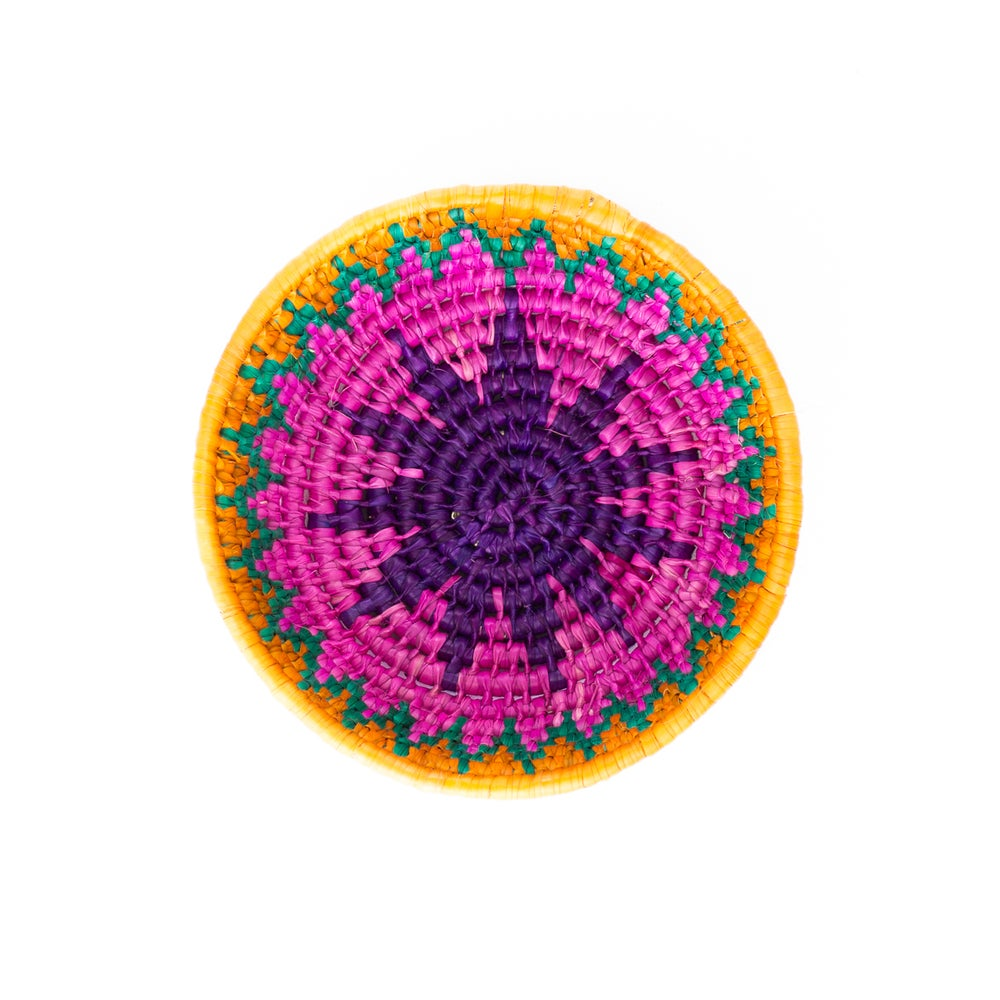 Image of Technicolor Woven Bowl - Pink/Purple
