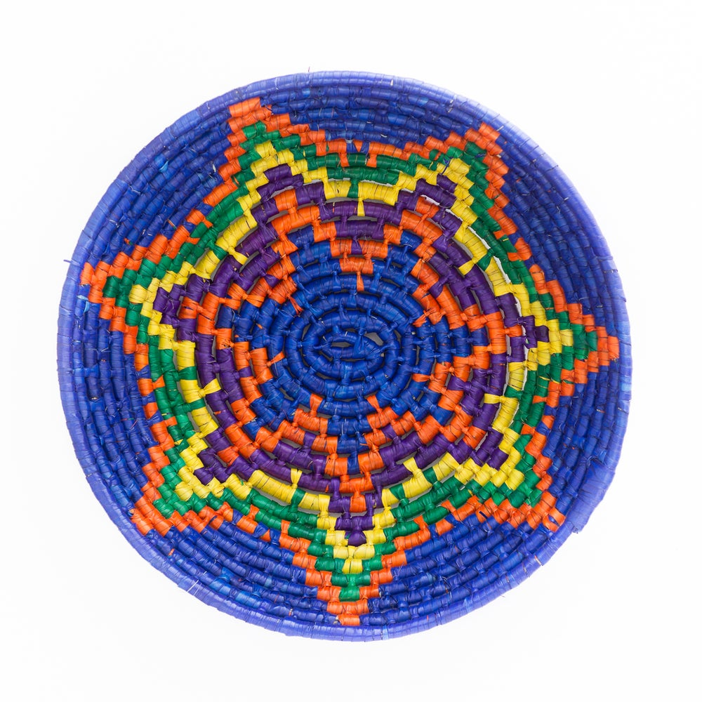 Image of Technicolor Woven Bowl - Blue