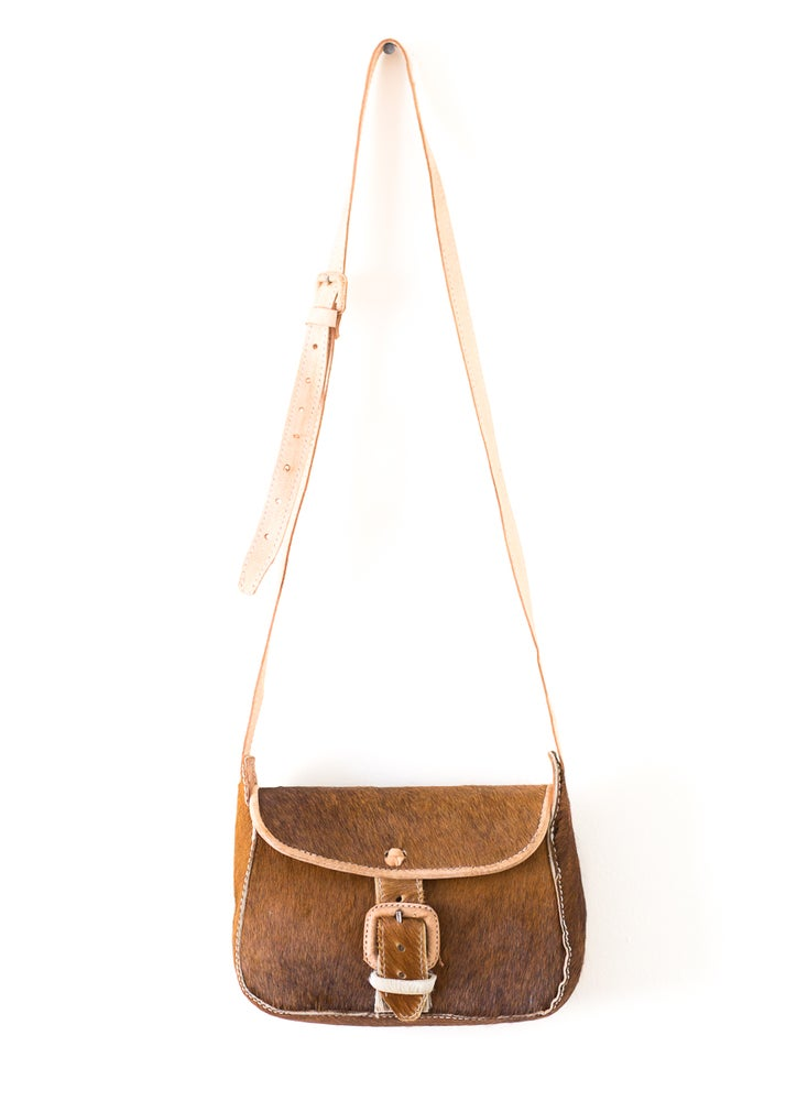 Image of Cowhide Bag Tan