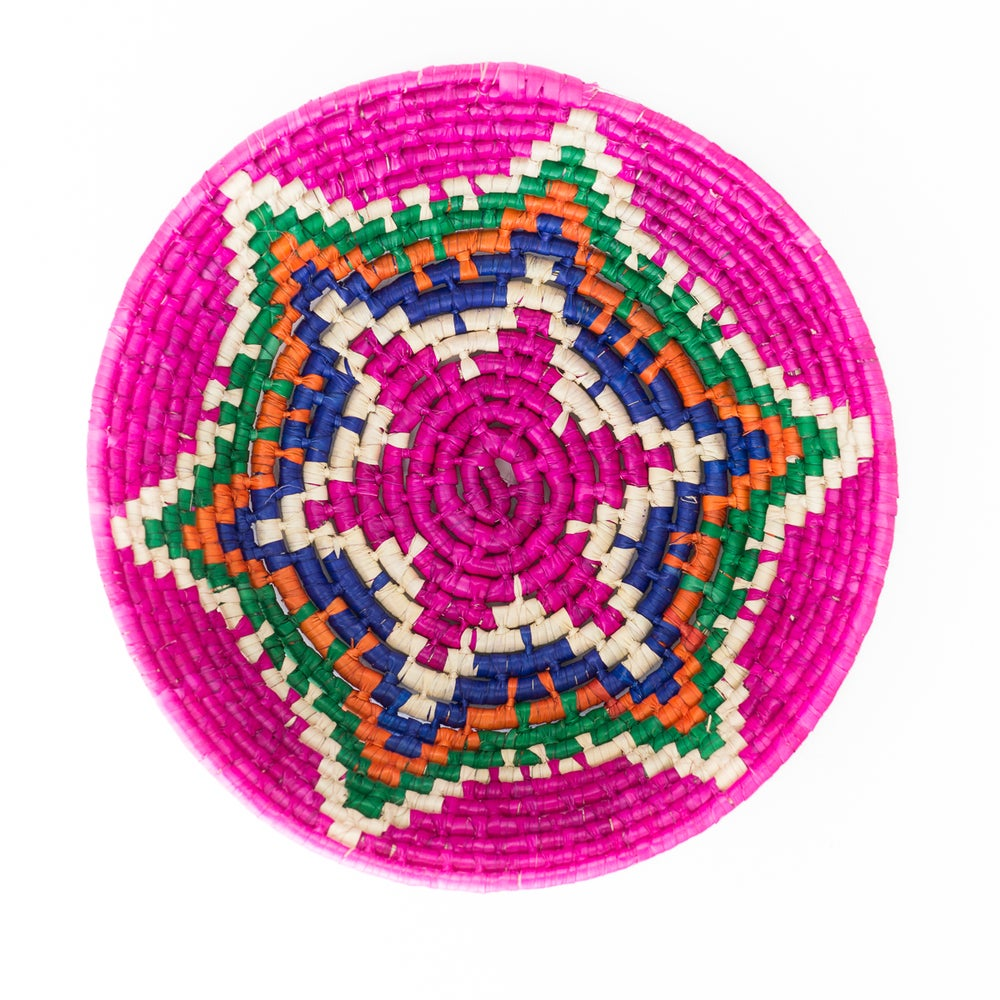 Image of Technicolor Woven Bowl - Pink