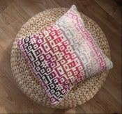 """Image of Summer Cushion cover with abstract mosaic pattern - 18"""" x 18"""" zip fastening"""