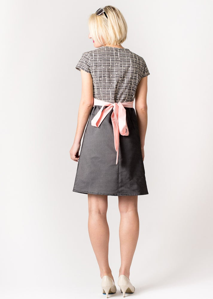 Image of FARMHOUSE DRESS: Triangle Print