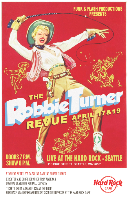 Image of Robbie Turner Revue Poster - April 17 & 19, 2015