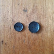 Image of Blackened brass buttons