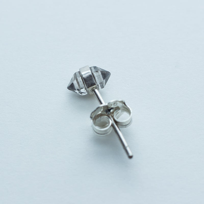 Image of Better Late Than Never Single Diamond Sterling Silver Stud Earring