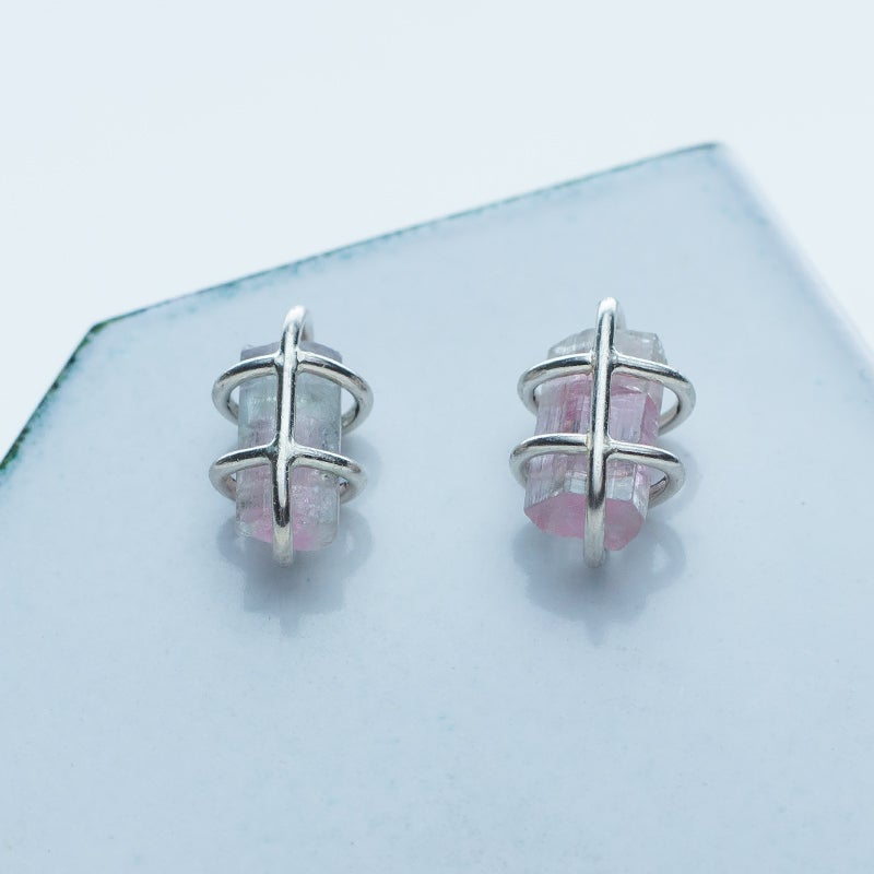 Image of Better Late Than Never Cage Stud Earrings