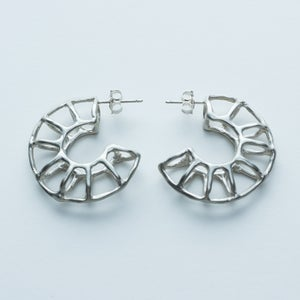 Image of Better Late Than Never Minor Arc Hoop Earrings