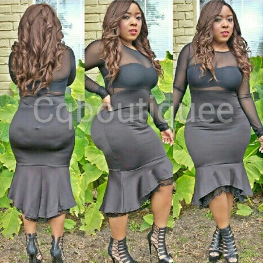 Image of Giving me body dress (black)