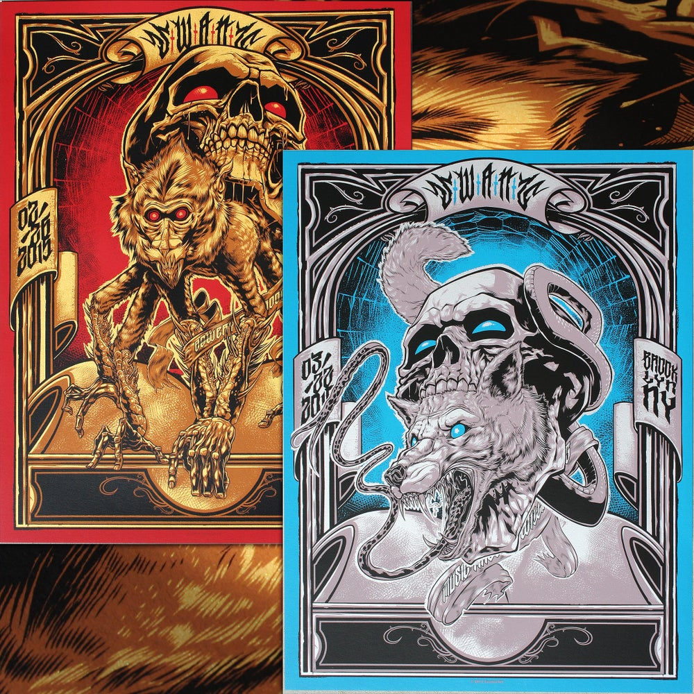 Image of Swans Diptych Gig Poster SET