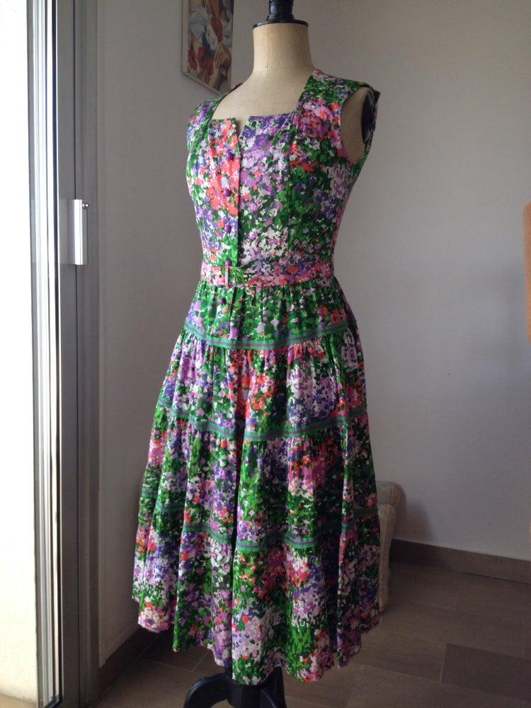 belle robe d t 50 39 en coton fleuri dingue de vintage. Black Bedroom Furniture Sets. Home Design Ideas