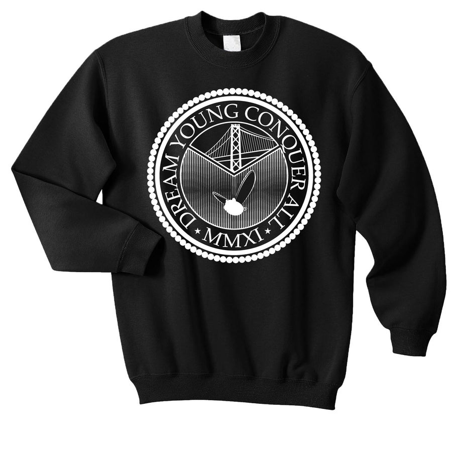 "Image of ""THE SEAL"" BLACK/CREW NECK"