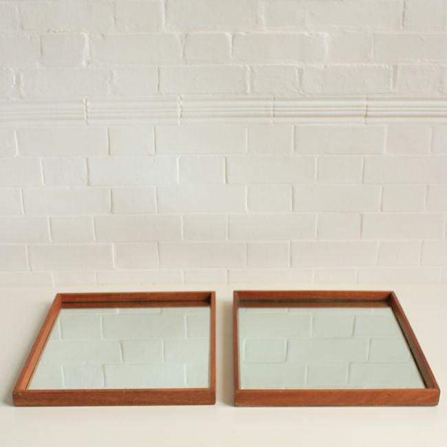 Image of Vintage Teak mirror (2 available)