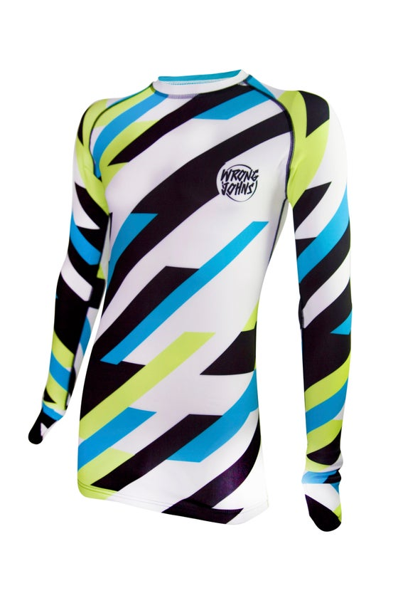 Image of Mens Coloured Striped Thermal Top