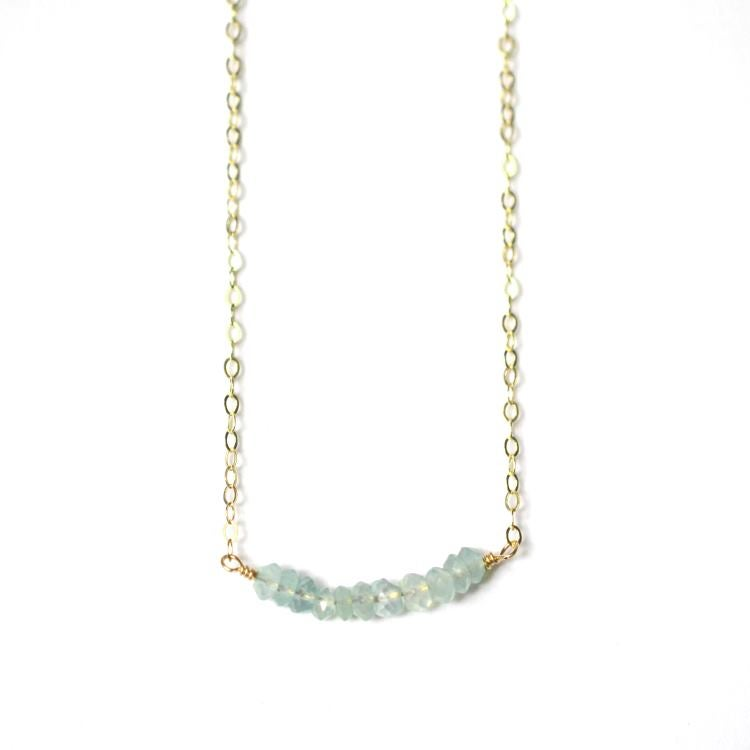 Image of Seafoam chalcedony curve necklace