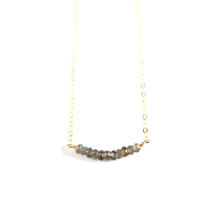 Image of Labradorite curve necklace