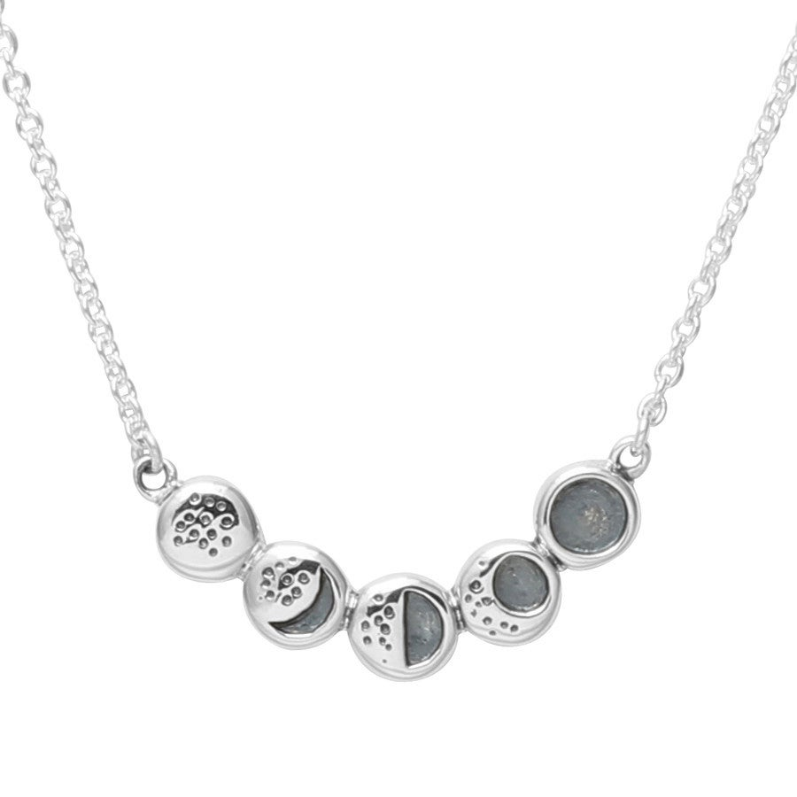 Image of Sterling Silver Moon Phases Necklace