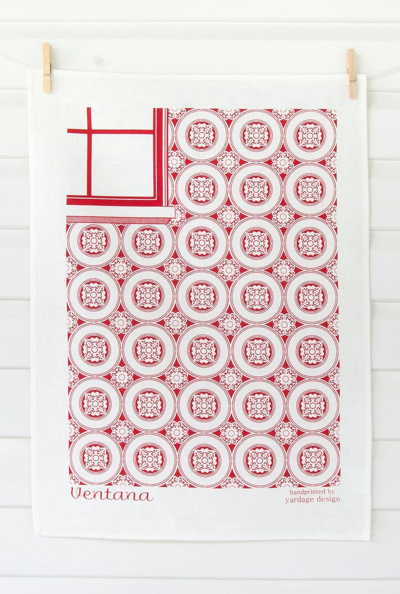 Image of DISCONTINUED SALE Ventana Tea Towel