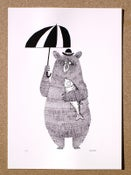 Image of Bear, Brolly and Salmon (screen print) Edition 50