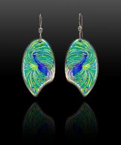 Image of Peacock Energy Earrings