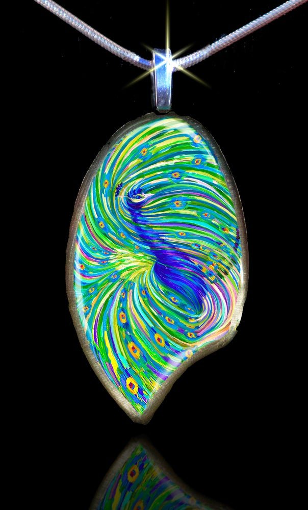 Image of Peacock Energy Pendant - Beauty.  Foresight. Clairvoyance.