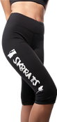 Image of SK8RATS Yoga Pants Knee Length (Black)