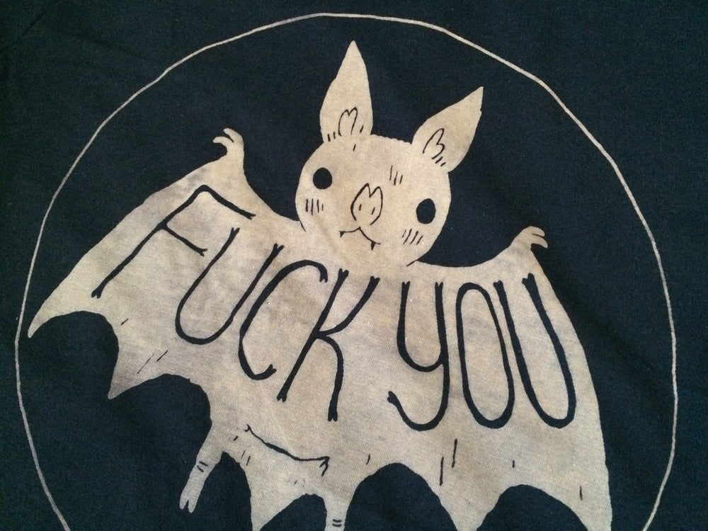 Image of Black Fuck You Bat Shirts