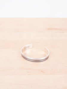 Image of Undercover - Giz Pattern Silver Bangle