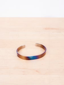 Image of Number (N)ine - Etched Oxidized Titanium Bangle