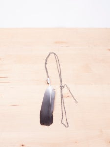 Image of Ann Demeulemeester - Silver Feather Necklace