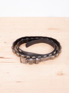 Image of Ann Demeulemeester - Painted Brass Studs Leather Belt
