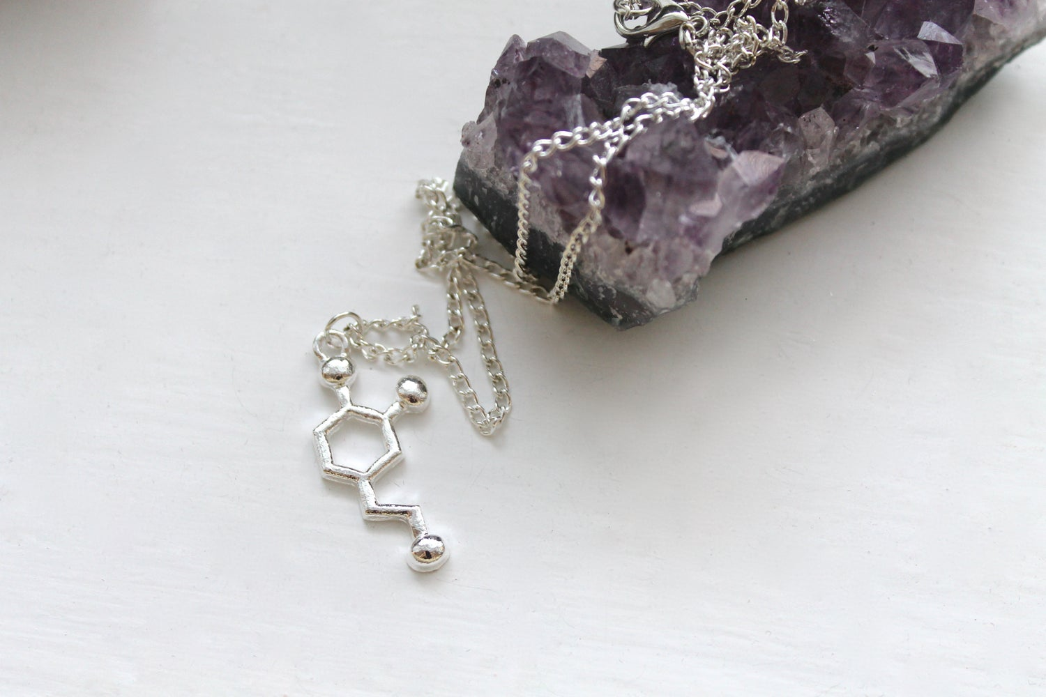 Image of Dopamine Molecule Necklace